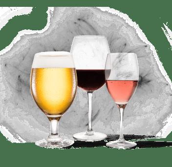 Алкоголь, в том числе красное вино и пиво